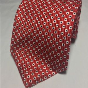 Lauren Ralph Lauren red and blue tie hand finished